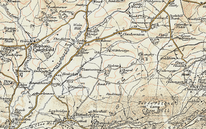 Old map of Cleestanton in 1901-1902