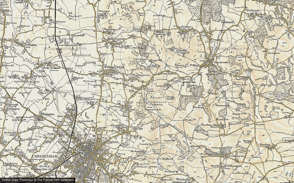 Old Map of Cleeve Hill, 1899-1900 in 1899-1900