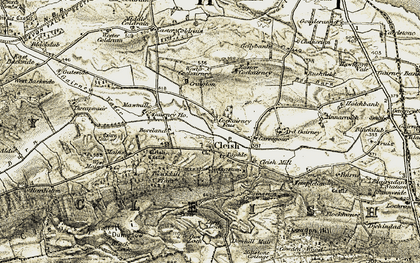 Old map of Wood of Coldrain in 1904-1908