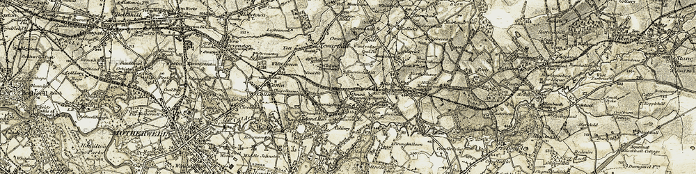 Old map of Whitecraighead in 1904-1905