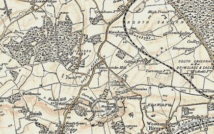 Old map of Clench Common in 1897-1899