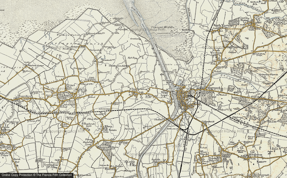 Old Map of Historic Map covering Banklands in 1901-1902