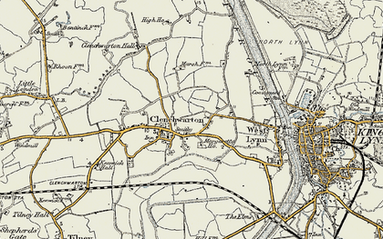 Old map of Clenchwarton in 1901-1902