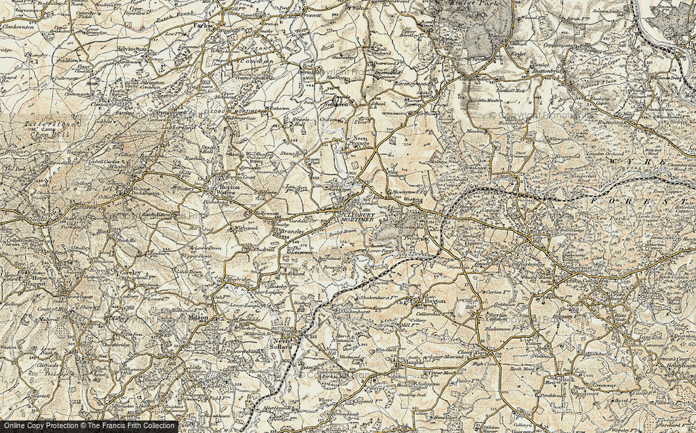 Old Map of Cleobury Mortimer, 1901-1902 in 1901-1902