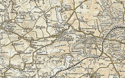 Old map of Cleobury Mortimer in 1901-1902