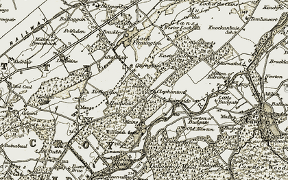 Old map of Tirfogrein in 1911-1912