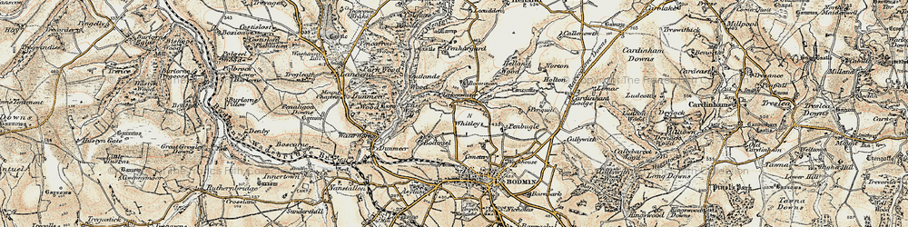 Old map of Whitley in 1900
