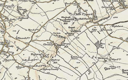 Old map of Windmill Hill in 1898-1899