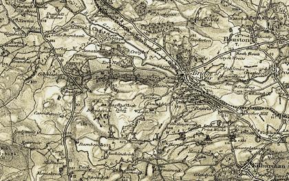Old map of Auchencloich in 1905-1906