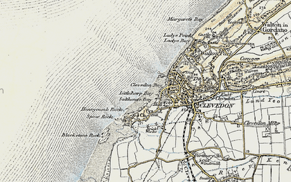 Old map of Clevedon in 1899