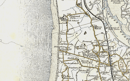 Old map of Cleveleys in 1903-1904