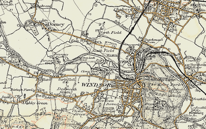 Old map of Clewer Village in 1897-1909