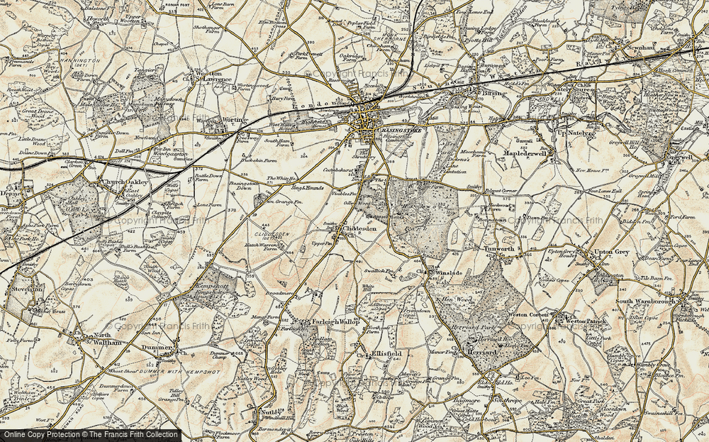 Old Map of Historic Map covering Audleys Wood in 1897-1900