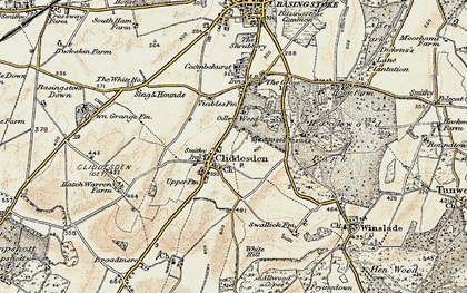 Old map of Audleys Wood in 1897-1900