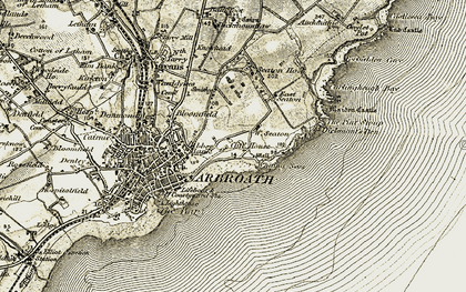 Old map of West Seaton in 1907-1908