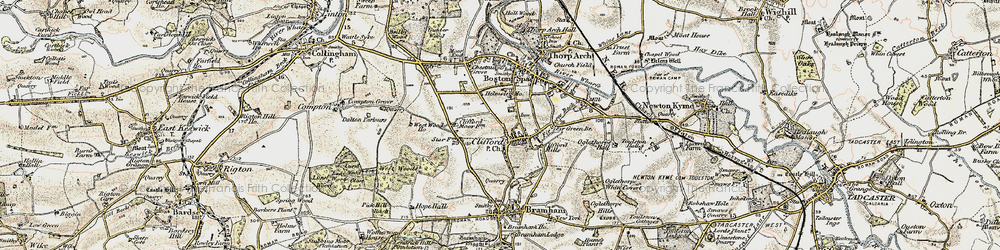 Old map of Clifford in 1903-1904