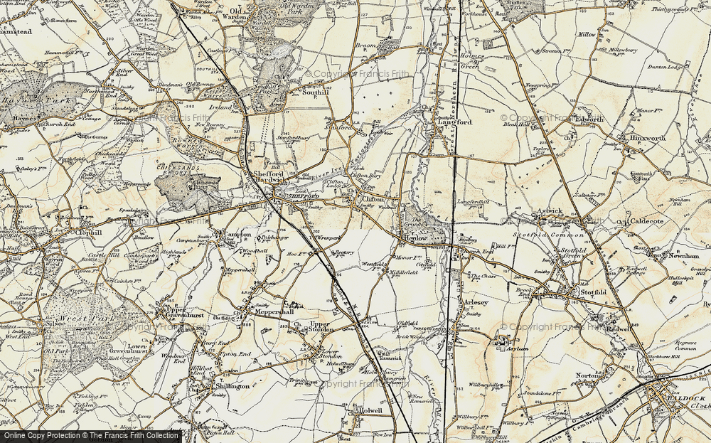Old Map of Historic Map covering Wren Park in 1898-1901