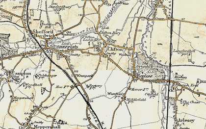 Old map of Clifton in 1898-1901