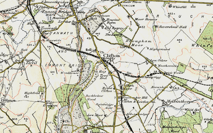 Old map of Bainbridge Gate in 1901-1904