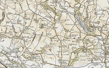 Old map of Weston Moor in 1903-1904