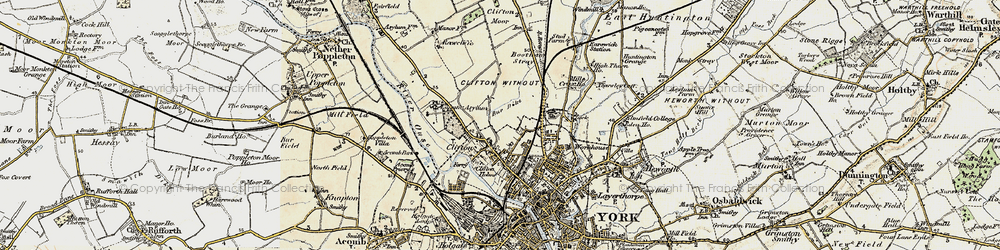 Old map of Clifton in 1903
