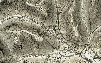 Old map of Allt Coire Dubhchraig in 1906