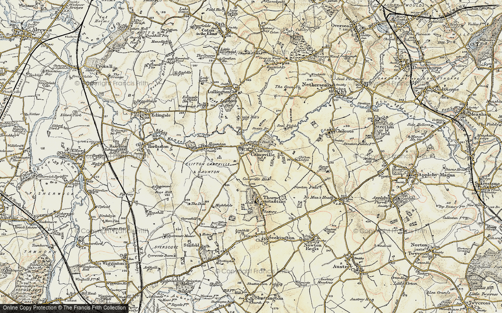 Old Maps of Clifton Campville - Francis Frith