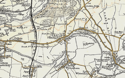 Old map of Clifton Hampden in 1897-1899