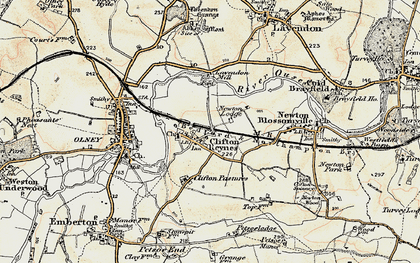 Old map of Clifton Reynes in 1898-1901