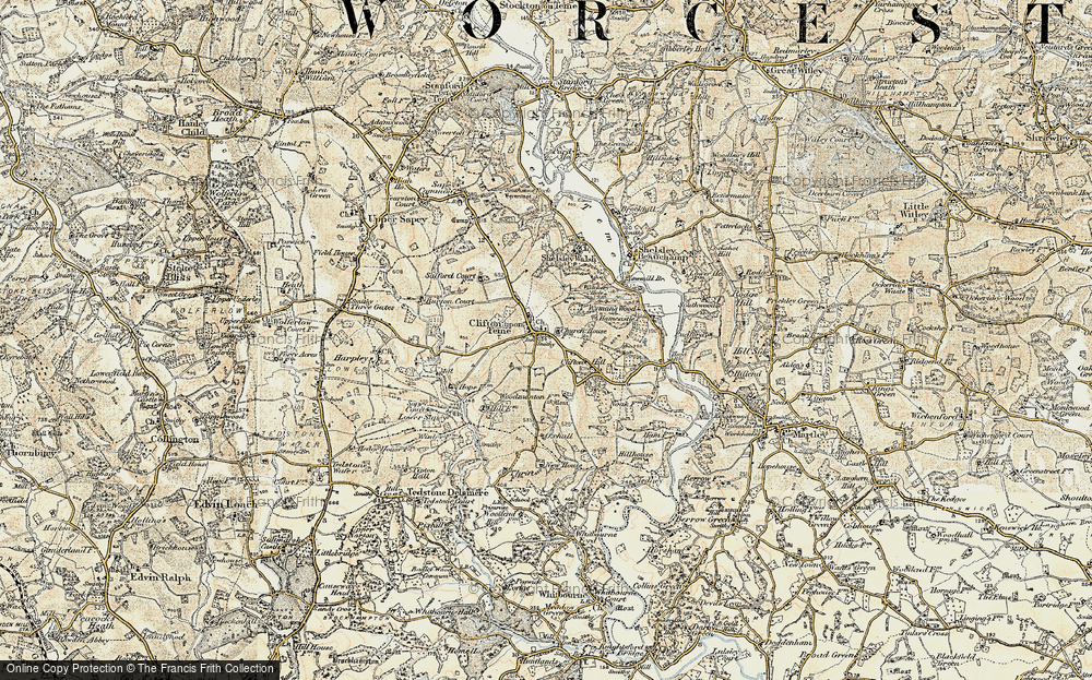 Old Map of Clifton upon Teme, 1899-1902 in 1899-1902