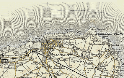 Old map of Cliftonville in 1898-1899