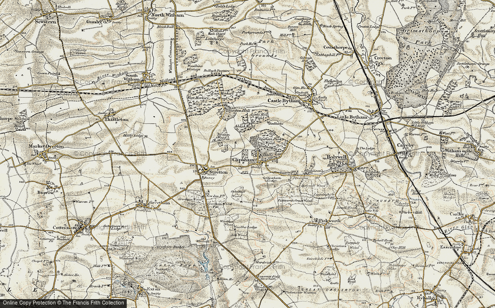 Old Map of Historic Map covering Addah Wood in 1901-1903