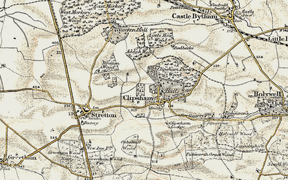 Old map of Addah Wood in 1901-1903