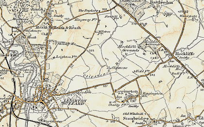 Old map of Leighton Buzzard Railway in 1898-1899