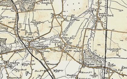 Old map of Cliton Manor in 1898-1901