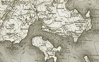 Old map of Winna Ness in 1912