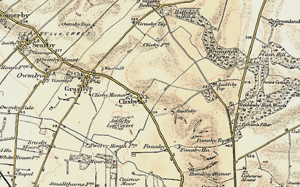 Old map of Audleby in 1903-1908