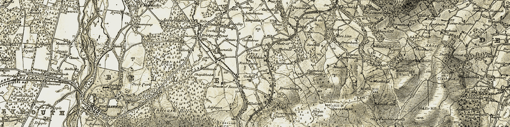 Old map of Allaloth in 1910