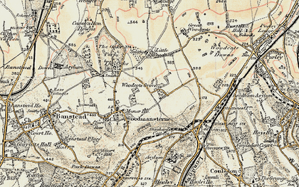 Old map of Woodcote Grove Ho in 1897-1909