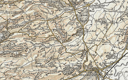 Old map of Y Golfa in 1902-1903