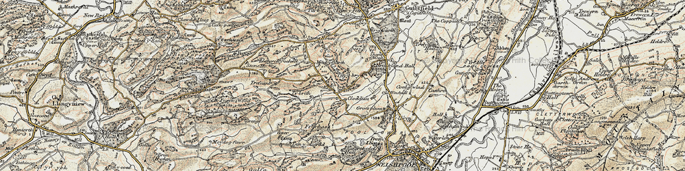 Old map of Tirnewydd in 1902-1903