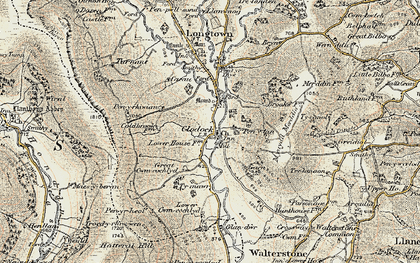 Old map of Clodock in 1900