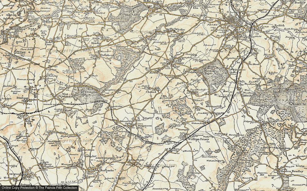 Old Map of Cloford, 1897-1899 in 1897-1899