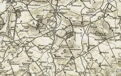 Old map of West Newton in 1909-1910
