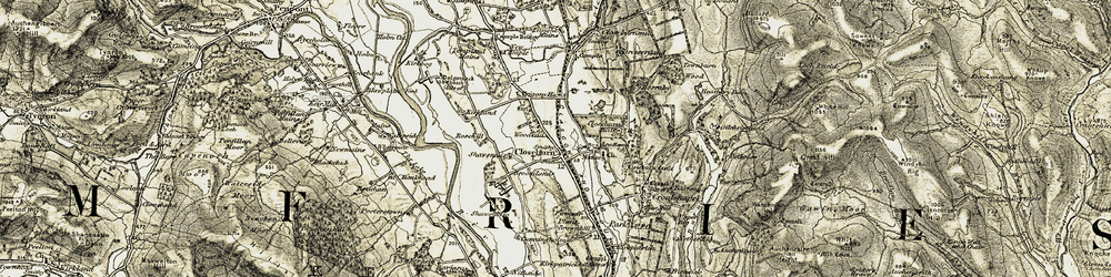 Old map of Woodend in 1904-1905