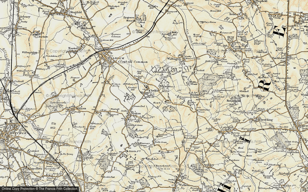 Old Map of Historic Map covering Toggs in 1898-1899