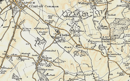 Old map of Westfield Common in 1898-1899