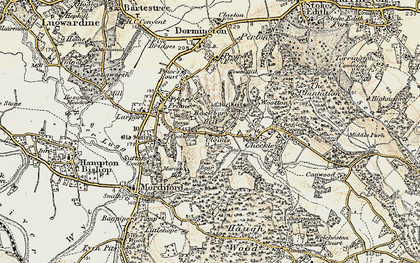 Old map of Backbury Hill in 1899-1901