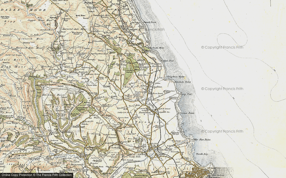 Old Map of Historic Map covering Lindhead Beck in 1903-1904