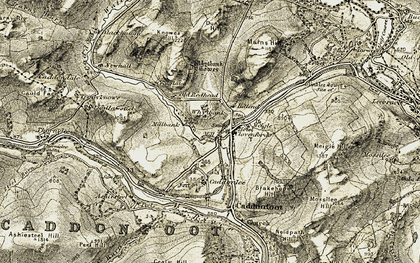 Old map of Whytbank in 1903-1904